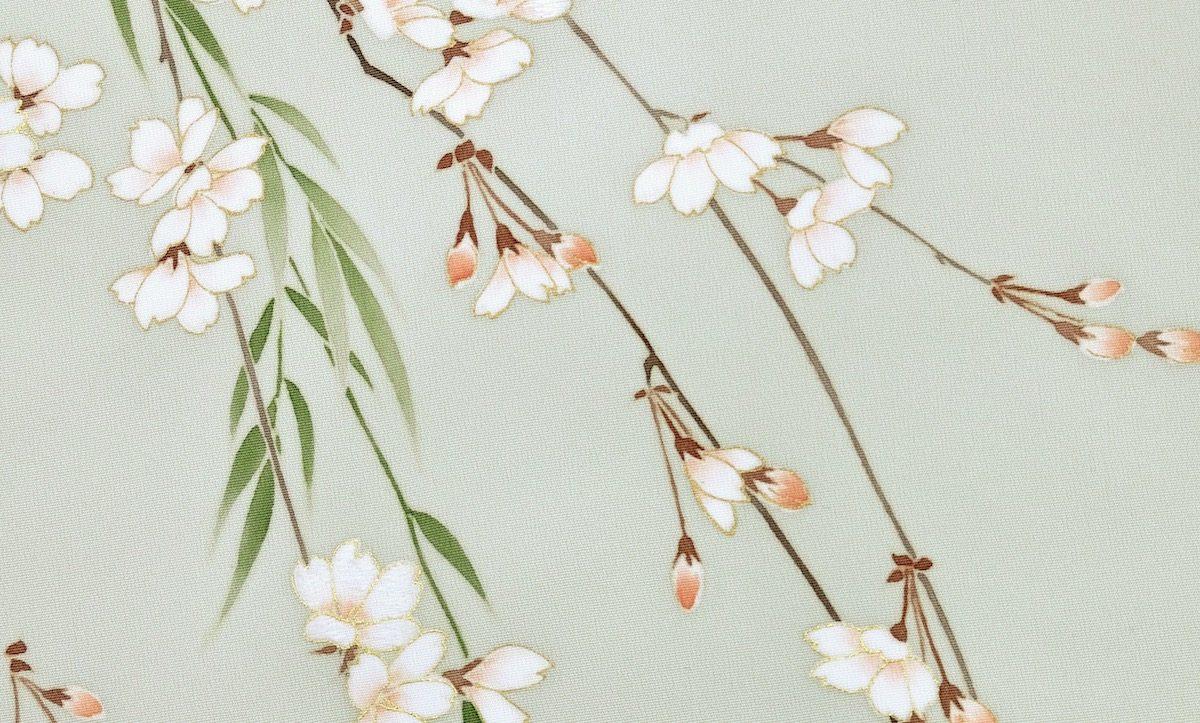 春に使われる着物の模様[桜]