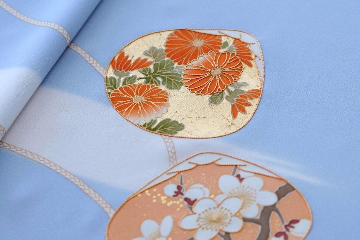 着物に使われる日本の伝統的な模様:貝合わせ