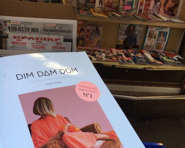 dimdamdomの表紙と店頭の様子